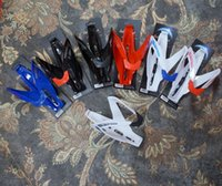 Wholesale New Fashion Outdoor Sports Cycling Bike Bicycle Plastic Water Bottle Holder Cages Black White Red Blue Color