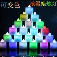 Wholesale 1000 BBA4335 LED electronic candle Colorful led light candle smokeless electronic flameless color changing LED wedding party home decoration