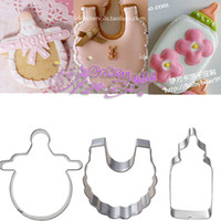 baby sugar cookies - Baby Nipple Feeder Shawl Stainless Steel Cookie Cutter Fondant Sugar Cake Decoration Tool Betro Sandwich Molds Metal Mould Cooking Tools