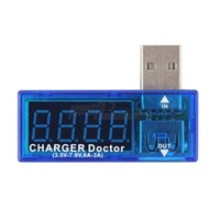 Wholesale 1pcs Tester Power Detector USB Charger Doctor Mobile Battery Voltage Current Meter DropShipping