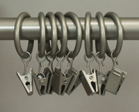 Wholesale Set of inch Nikel Metal Drapery Curtain Rings with Clips Fits Up To inch Rod