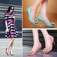 Wholesale Sweet Fashion kitten Heels Shoes Ladies Sexy Diaphanous Girl high heel party Shoes Bowtie Wedding Shoes