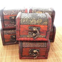 Wholesale Vintage style DIY wooden jewelry box storage box clean up box