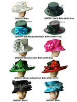 ladies dress hat - NEW ARRIVAL ladies Satin dress hat church hat Formal hat in mix style and mix color wedding races