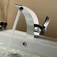 arc code - BAKALA New fashion arc basin faucet chrome single hole hot and cold mixing faucet safety CODE