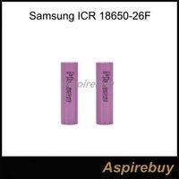 100% authentique Samsung 18650 Batterie 2600mAh ICR 18650-26F 18650 3.7V batterie rechargeable pour ordinateur portable LED Livraison gratuite