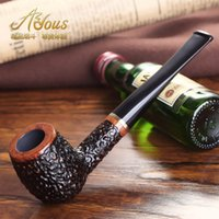Cheap Wholesale-Free shipping 100% Handmade Briar tobacco pipe smoking pipe Smoking Accessories tools gifts for men with box Cigarette holder