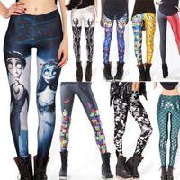 Wholesale Mix Design New Fashion Women Space print Pants Galaxy Leggings Black Milk Leggings Women Leggins Free Size