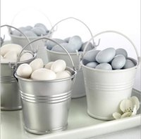 pails - 100pcs Galvanized mini pails wedding favors mini bucket candy boxes favors z204