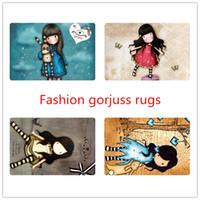 area girls - Cute Illustration Girl Floor Mat For Living Room Fashion Cartoon Bedroom Carpet Anti Slip Front Door Mats Home Area Rugs