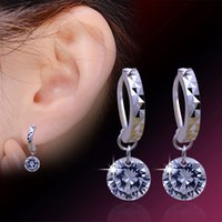 Wholesale New Jewelry Austria Crystal Bare Drill Dangle Earrings Sterling silver Cubic Zircon Earrings for Wedding Party