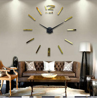 Wholesale Fashion Home Decor Stickers Wall Clock For Living Room wall Decals Decoration DIY personalized X120CM Big size stereo digital clocks