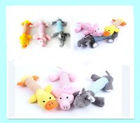 Wholesale 2015 hot Pet Puppy Chew Squeaker Squeaky Plush Sound Pig Elephant Duck For Dog Sound Toys