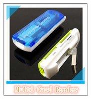 Wholesale Small Spacecraft Multi Card Reader Multifunction Cards Micro SD MMC TF Camera SD Memory Stick M2 MINI SD All in Portable MQ1000