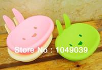 Wholesale Min order is mix order MOMO cartoon rabbit bunny cute smile soap box soap dish soap box supplies