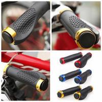 Wholesale Bike Handlebar Grips Rubber Anti skid Bicycle Grip Cover Lock on Skid Proof Bicycle Handlebar Grips Colors pair LJJE403 pair