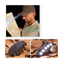 Wholesale 5 LED Cap Head Light Lamp Torch For Hiking Camping Mountain Climbing Outdoors