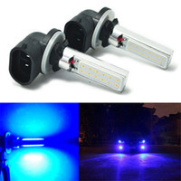 Cheap Free Shipping 2Pcs 881 Blue COB LED Fog Lights 12W Daytime Driving Bulbs 886 889 894 896 898 862