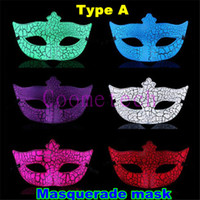 Wholesale 2015 Newest halloween masquerade mask crack mask venice mask for party prom Halloween Christmas masquerade