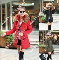 fur collar - 2014 New Winter Jacket Down Winter Slim Thick Fur Collar Long Down Jacket Plus Size Jaqueta Feminina NVQ03