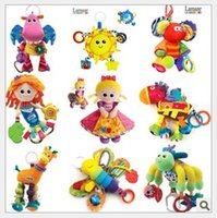Wholesale Lamaze Crib baby toys with Rattle Teether Infant Early Learning Development Toy Stroller Music Baby Doll Toys bed hanging Mix order