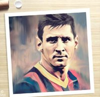 barcelona football pictures - TOP ART LIONEL MESSI Barcelona soccer football oil painting canvas handpainted painting cost