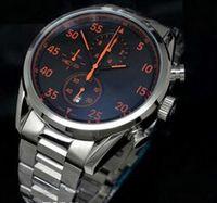 Wholesale Luxury Swiss Brand Casual Calibre CAL Watches Men Quartz Chronograph Fashion Mens Sports Wristwatch Stainless Steel original Buckle