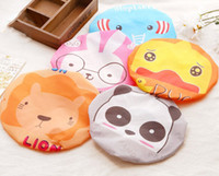 Wholesale Waterproof Bath Shower Cap Hair Cap Elastic Cute animal style PVC material for kids girls women Waterproof shower caps bath caps kawaii