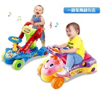 Ride-ons baby big wheel - Hot Sale Musical Swing Car For Kids Ride On Car Four Wheels Baby Walker Ride On Children Car Toy