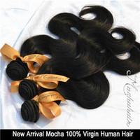 Wholesale 7A Unprocessed Mocha Hair Mix or Brazilian Hair Body Wave quot quot Brazilian Virgin Human Hair Extensions