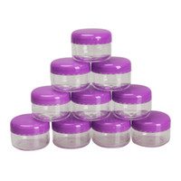 bamboo cosmetic containers - 10Pcs Cosmetic Empty Jar Pot Eyeshadow Makeup Face Cream Container Empty Cosmetic Containers Cosmetic Sample Containers