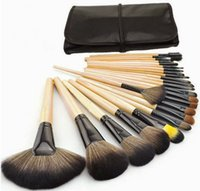 Wholesale 2016 HOT Sale Professional Makeup Brush Set tools Make up Toiletry Kit Wool Brand Make Up Brush Set Case MUB24