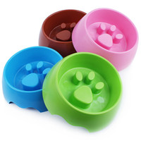 Wholesale Catch Interactive Pet Slow Feeder Loss Weight Anti Gulping Choke Special Plastic Slow Feeder Plastic Cat Dog Pet Bowl EB DJ15594