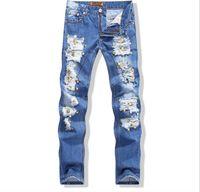 american motors - New Fashion Mens Denim Biker Jeans Rivet European And American Style Branded Motor Cycle Jeans Slm Fit Mens Jeans Brand