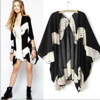 cape coat plus size - Fashion Elegant Printed Women Chiffon Blouses Top Cape Plus Size Loose Women Cardigan Chiffon Cape Coat Protected from Sunshine ecc2924