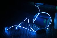 studio flash - Luminous Headphones For Smartphone mm In ear Most Popular Sport Visible Flowing LED Glow Flash Light Stereo Earphone EL Glowing Headsets