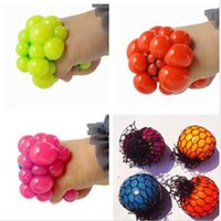 anti stress balls - Hot Sale Anti Stress Face Reliever Grape Ball Autism Mood Squeeze Relief Healthy Funny Tricky Toy