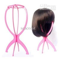 Wholesale DHL New Folding Plastic Stable Durable Wig Hair Hat Cap Holder Stand Display Tool Tools