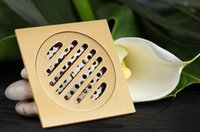 Wholesale Solid Brass Square Floor Drain Art Carved Shower Ground Drainer cm