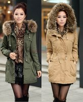 Wholesale M XXXL New Autumn Winter Women s Fleece Warm Coat Zip Faux Fur Long Hood Coats Thick Jacket Parka Women Overcoat Casual Outwear