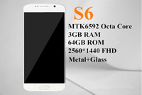Wholesale Best new s6 phone mtk6592 cell phone GB Ram FHD android s6 mobile phone octa core nano sim Smart phone GB ROM