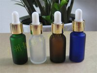 essential oil glass bottle - Best Quality Dull Polish Glass Essential oil Bottle with Dropper Colored Frosted Bottles for essential oil Perfume Brown Blue Clear Green Av