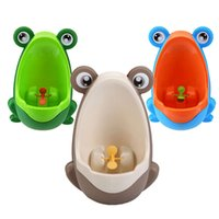 Wholesale New Stylish PP Frog Children Stand Vertical Urinal Wall Mounted Urine Groove K5BO