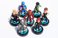 Wholesale The Avengers figures toys doll Age of Ultron black widow HawkEye Captain America Thor The hulk Iron man Vision Action Figure