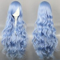 baby dating - Cheap High Quality Date A Live Yoshinon Baby Blue cm Long Wavy Synthetic Anime Wig