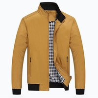 arrival outwear - Fall Men Checker Outwear Overcoat Coat Parka Zip Up Trench Coats Jackets Casual Fashion Jacket New Arrival