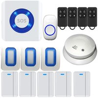 alarm system kits - Wireless Doorbell Kit Remote Button WIFI Android IOS APP Smart Enabled Cloud Monitor Home Security Fire Alarm System Premium Portable Door C