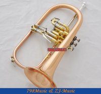 Wholesale Professional Rose Brass Bb Flugelhorn Monel Piston Abalone Shell Key With Case