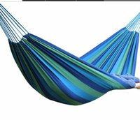 Wholesale Portable kg Load bearing Outdoor Garden Hammock Hang Bed Travel Camping Swing Survival Outdoor Sleeping Outdoor leisure h