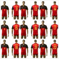 Wholesale 2016 Belgium Soccer jersey EDEN HAZARD DE BRUYNE KOMPANY VERTONGHEN VERMARLEN LUKAKU euro cup shirts Belgium football shirt